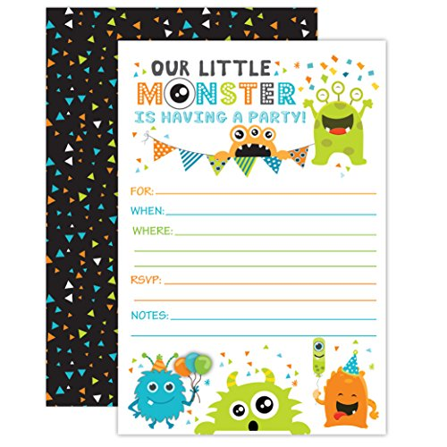 monster baby shower invitations - 2