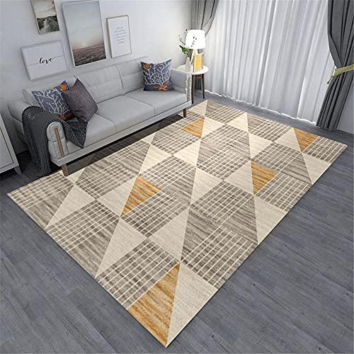 Alfombras habitacion Matrimonio Alfombra Antideslizante del Dormitorio de la Sala de Estar del diseño de la Raya geométrica...