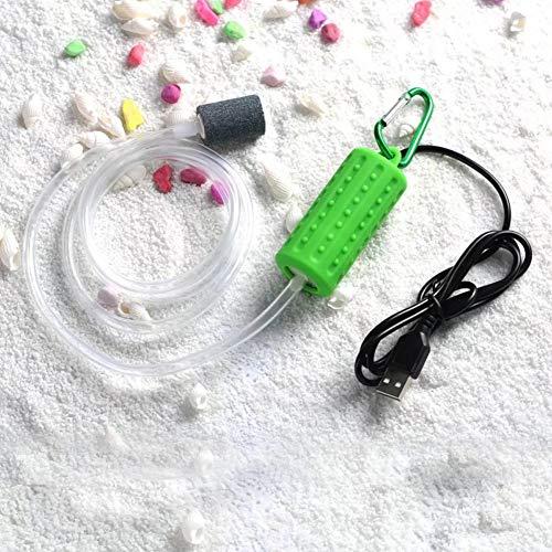 Adeeing Mini USB Aquarium Luftpumpen Tragbare Sauerstoff Luftpumpen Stumm Energiespar Zubehör