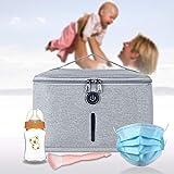 Uv Box Sterilisator für Babyflaschen UV-Desinfektionspaket Faltbarer UV-Desinfektionsbeutel Mit 6 Zwiebeln, um Bakterien in 3 Minuten Abzutöten