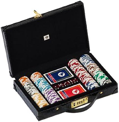 mejor reputación Dal negro 02583 - - - Maletín de póquer Profesional (200 fichas, 43 mm, 15,5 g), Color negro  Felices compras