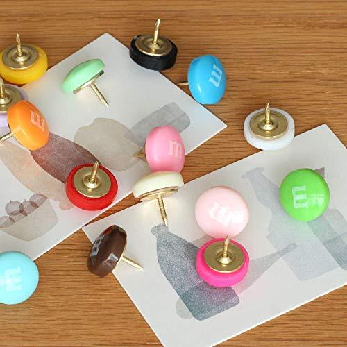 Chocolade Bonen Kaartstiften, Chocolade Bonen Mini Push Pins, Kurk Vilt Board Nagels, Bericht Nagels, Kleine Nagels