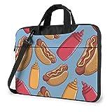 Bolso para computadora portátil Funda Protectora para computadora portátil Bolso antiarañazos Bolso Estilo Hotdog y Botella de Salsa de Tomate Doodle