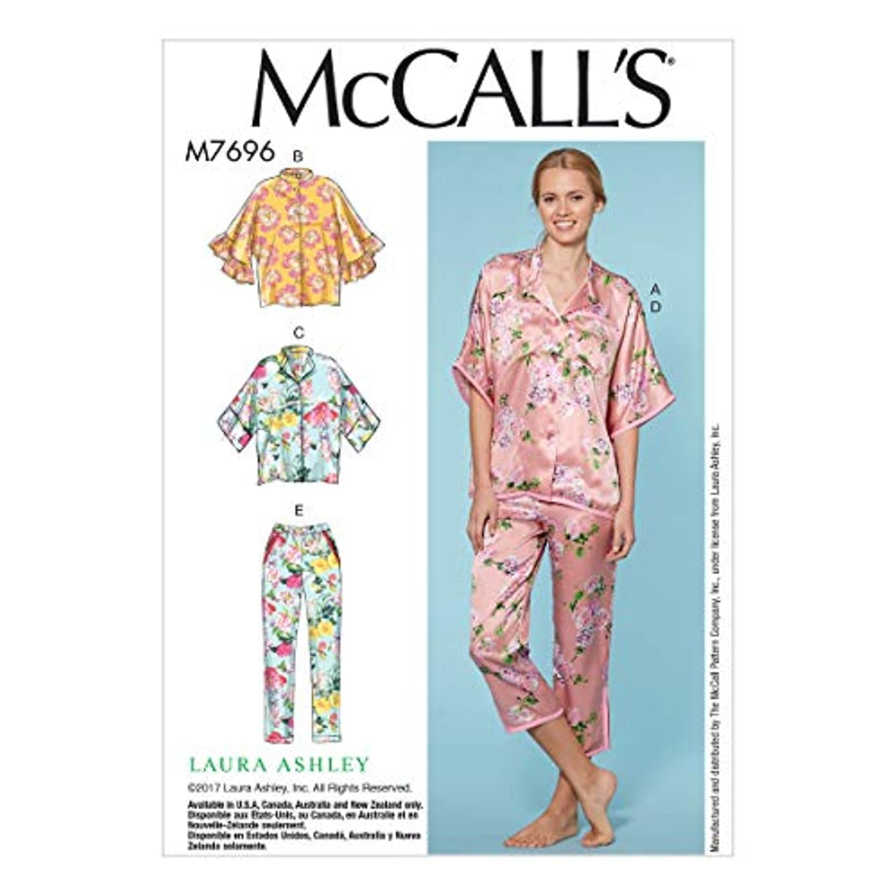 McCall's Patterns M7696OSZ Misses Lounge Tops/Shorts and Pants