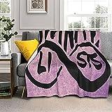 Infinitelists - Mantas de cama de 200 x 150 cm, resistente a la decoloración, manta de cordero para todas las estaciones, cómoda y ligera, supersuave en el sofá