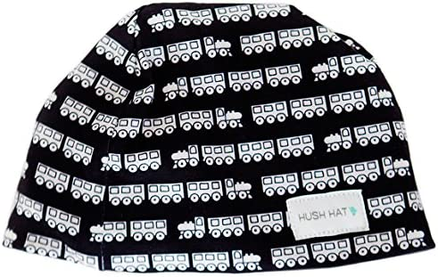 Hush Baby Hat with Softsound Technology and Medical Grade Sound Absorbing Foam Trains Black product image