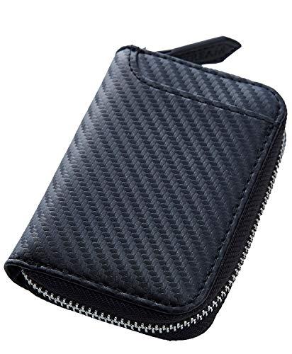[STREAM] 本革 コインケース 小さい財布 ボックス型 メンズ レディース 6ポケット (カーボンブラック)