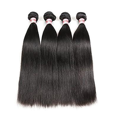 Hermosa Brazilian Straight Hair 4 Bundles 9A Unprocessed Virgin Brazilian Hair Straight Human Hair Weave Weft Natural Black
