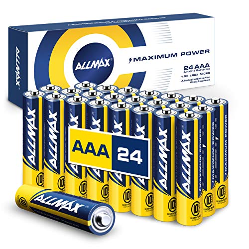 Allmax AAA Maximum Power Alkaline Batteries (24 Count) – Ultra Long-Lasting Triple A Battery, 10-Year Shelf Life, Leak-Proof, Device Compatible – Powered by EnergyCircle Technology (1.5 Volt)