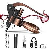 Rabbit Wine Bottle Opener, Ohuhu Corkscrews for Wine Bottles, 8- Piece Wine Opener Gift kit, Premium...