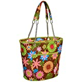 Picnic at Ascot Large Insulated Fashion Cooler Bag - 22 Can Tote - Floral