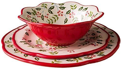 LIZANAN Cuencos de cerámica pintada a mano Plato de ensalada de frutas Pasta Bowl Postre Cereales Sopa Ramen Bowl Horno Microondas Seguro Mezclar Cuencos de servir Conjunto de Arroz