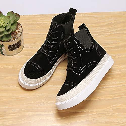 Shukun Bottes Spring and Autumn bottes Martin bottes Wohommes Wild Wohommes chaussures Fashion