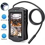 """HOMIEE Digital Inspection Camera with 4.3"""" LCD Monitor Screen, IP67 Waterproof Borescope Endoscope"""