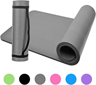 Lixada 10mm Thick Yoga Mat Non-Slip Exercise Mat Pad with Carrying Strap and Mesh Bag for Home Gym Fitness Workout Pilates