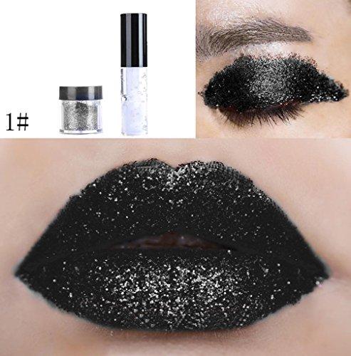 Fulltime Scintillement brillant à lèvres paillettes poudre brillante Eye Shadow (A)