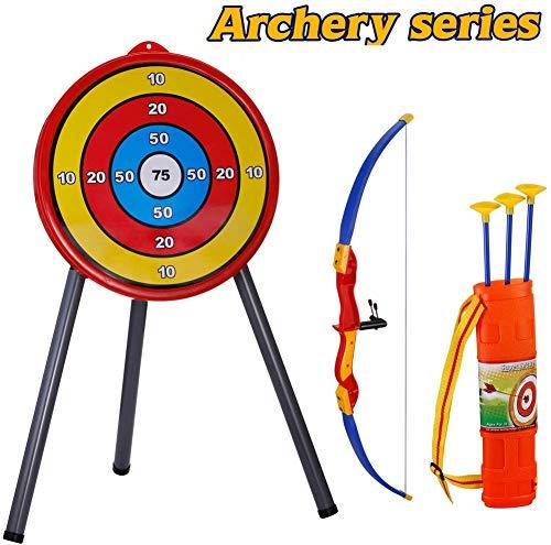 XMY Tiro con Arco para Niños con el Soporte de Destino, Arco y Flecha Conjunto de Juguete para Niños Niñas 5 6 7 8-12 años Arco de Edad de Disparo Juegos al Aire Libre Caza Práctica Juguetes