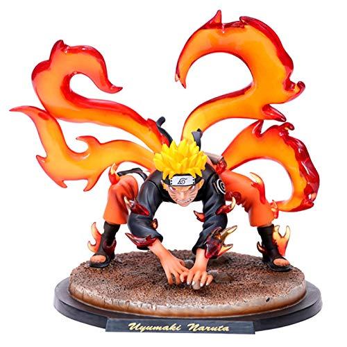 Naruto Shippuden Personaje Figura De Acción Modelo Kyuubi Uzumaki Naruto PVC Anime Figura Estatua Adornos Colección De Juguetes para Muñeca Amiga Regalo 20Cm