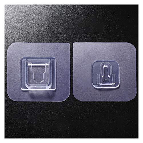 Ganchos de pared autoadhesivos con soporte de pared de doble cara ganchos transparentes de succión gancho de almacenamiento de pared para baño gancho de pared de cocina