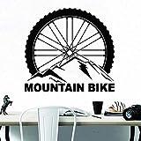 WERWN Pegatina de Pared para Bicicleta de montaña, Deportes Extremos, Rueda de Bicicleta, Vinilo, Pared autoadhesiva, decoración Interior para Adolescentes