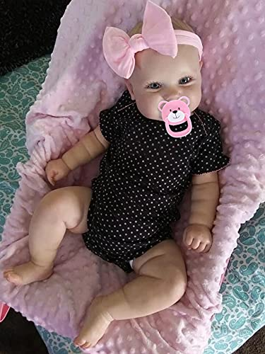 Anano 20 Inch Reborn Baby Dolls Toddler Girl Realistic Silicone Newborn Dolls Sweet Real Life Dolls for Babies