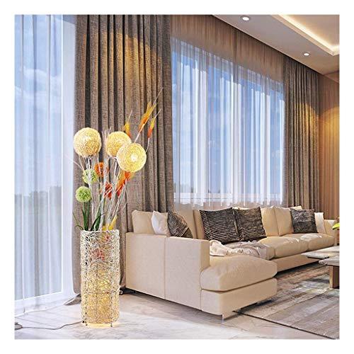 Lampadaire Creative creux Bamboo Salon de thé en rotin Chambre Pavillon Hôtel Vertical Lampe de table de l'environnement décoration de vacances (niveau d'énergie:A+)A+(Taille:20*130cm) para dormitorio