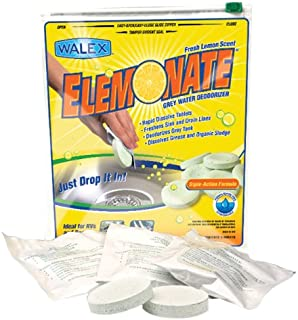 Walex TOI-61776 Elemonate Grey Water Deodorizer Drop-Ins, Fresh Lemon Scent (Pack of 5)