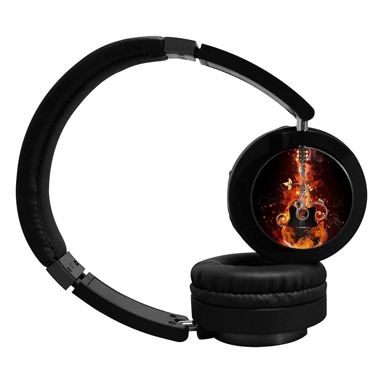 Electric guitar Mobile Wireless Bluetooth Costume Over Ear Headphones Black