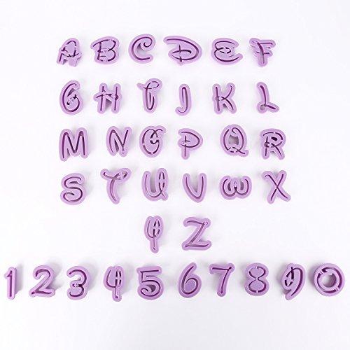 36x moule lettres chiffres Découpe Pate Emporte-pièce pour biscuit gateau