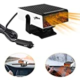 Achort Portable Car Heater, 12V 150W Windshield Defogger Defroster Heater, Plug-in Cigarette Lighter Powerful Car Heater Fan, Heating Quickly Low Noise 360-degree Rotation Heater Fan for Auto Cars