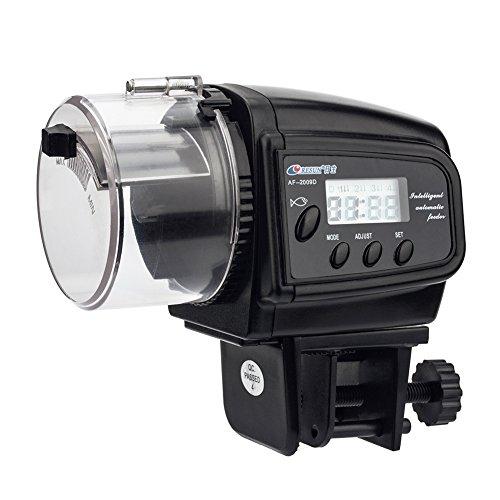 NICREW Alimentador Peces Automático, Alimentador Automático de Peces para Acuario con LCD Pantalla e Temporizador para Acuario Pescado
