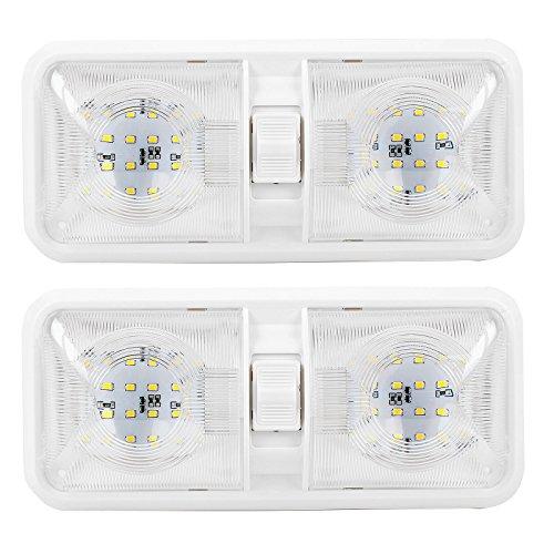 Caravana Caravana Barco iluminación interior empotrar, Juego de 2, 48LED, 12V, 640LM, 38x 288x 127mm on/off Interruptor