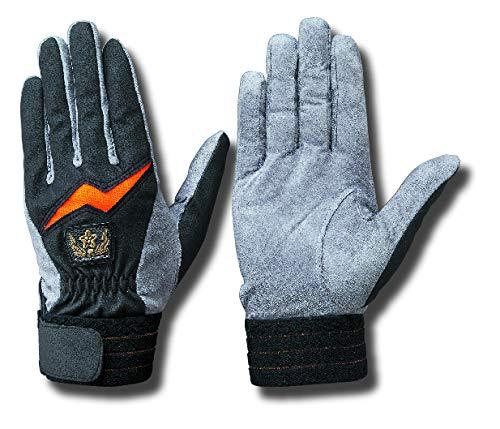 トンボレックス手袋 E-232BKG 消防団マーク Lサイズ