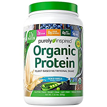 Vegan Protein Powder Smoothie Mix | Purely Inspired Organic Protein Powder | Plant Based Protein Powder for Women & Men | Pea Protein Powder | Plant Protein Powder | Vanilla 1.5 lb  Package May Vary