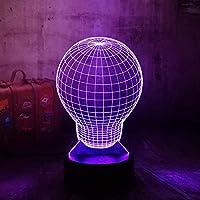 3D LEDナイトライト7色電球の形の錯覚電気スタンドランプクリエイティブランプ家のおもちゃ