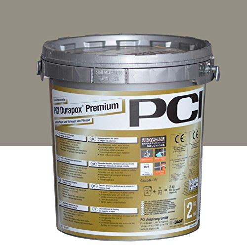 PCI Durapox Premium Reaktionsharz-Mörtel 2kg Eimer, Zementgrau