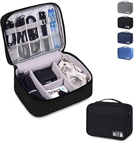 XENOTY Electronics Organizer Waterproof Carrying Case - Universal Travel Digital Accessories Storage Bag for Portable...