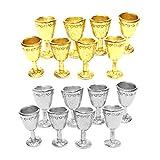SM SunniMix 16 Piezas 1/12 Muebles de Simulación de Copa de Vino para Accesorios de Casa de Muñecas en Miniatura