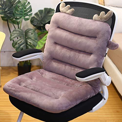 Thicken Rocking Chair Kussens Not-Slip High Back Seat Cushion, Eenpersoons Patio Stoel Lounge Stoel Kussen Vervanging Pad Voor Tuinmeubels En Kantoorstoelen,Purple,85 * 45cm