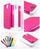 Thousand Eight(TM) For LG Volt LS740 Diamond Studded Silicone Rubber Skin Hard Case + [FREE LCD Screen Protector Shield(Ultra Clear)+Touch Screen Stylus] (Diamond hot pink)
