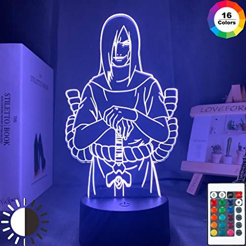 Acryl Naruto Orochimaru Figur Cool Anime Anime Licht 3D LED Tischlampe Kinder Geburtstagsgeschenk Nachtzimmer Dekoration