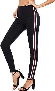 Women Drawstring Striped Jogger Sweatpants High Waist Workout Pants
