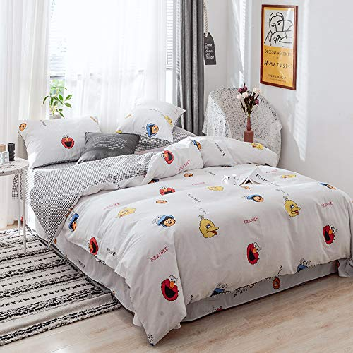 QWEASDZX Bedding Set Twill Polyester Cotton Digital Printing Four-Piece Bed Linen Quilt Cover Pillowcase Bedding Set Decoration 200x230cm