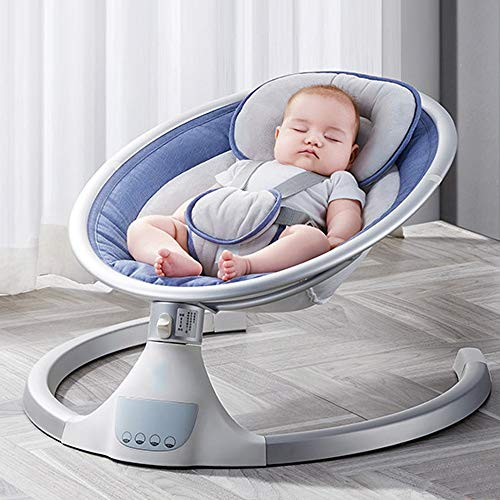 Heay Infant-to-Toddler Rocker,Electric Baby Swing Infant Bouncer with 5 Swing Speed and a Mosquito net, LED HD Display,New Gift for Newborns Little Ones Babies