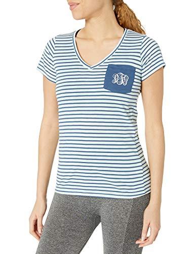 Columbia Camiseta PFG Monogram para Mujer, Mujer, 1772341, Viento/Rayas Marinas, S