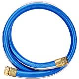 Solution4Patio Homes Garden Hose Short 3/4 in. x 5 ft. Water Hose Blue Lead-Hose Male/Female High Water Pressure with Solid Brass Fittings for Water Softener, Dehumidifier, Vehicle 8 Years Warranty