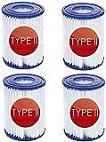 CXYXHW Cartucho de filtro de piscina tipo II para filtros Bestway II, tamaño 2, cartucho de filtro de piscina tipo II, cartuchos fáciles de usar (4 unidades)