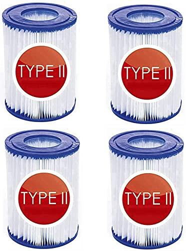 CXYY Cartucce Filtro di Ricambio per Bestway Tipo II, per Pompa Filtro per Piscina per Bestway 58094, Cartuccia filtrante per Piscina Gonfiabile (4 PCS)