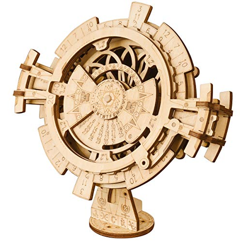 ROKR 3D Wooden Puzzle-Model Building Kits-DIY Movement Assembled Toys-Brain Teaser Educational and Engineering for Boys Girls Aged 14+,When Christmas, Birthday (Perpetual Calendar)