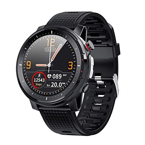 Reloj inteligente, rastreador de fitness, monitor de presión arterial, medidor de oxígeno en la sangre, monitor de frecuencia cardíaca, reloj inteligente compatible con teléfonos iPhone y Android.